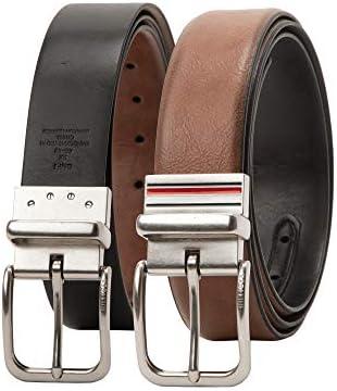 [해외]Tommy Hilfiger 남성용 캐주얼 벨트 / Tommy Hilfiger Men`s Big and Tall Casual Belt, tanblack stripe, 3X (52-54)