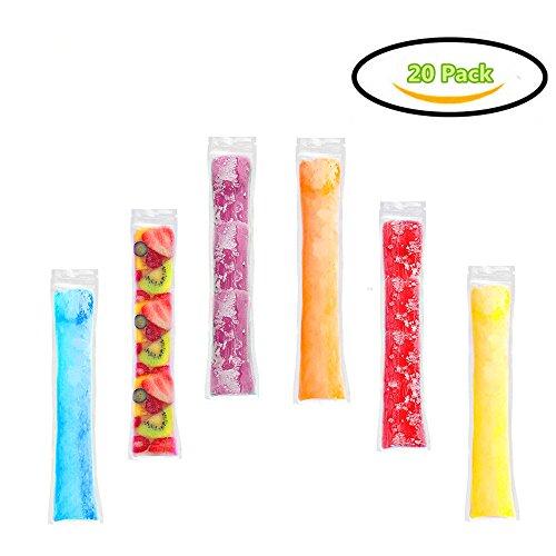 Sachets jetables de bâton de glace, sacs de glace de smoothie, sacs de glace Popsicle, briclage de crème de glace, sacs de glace de sucreries, sacs autoscellables, sacs de fabrication de moule à glace
