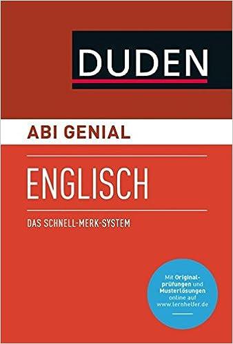 Abi Genial Englisch Das Schnell Merk System Sms Buch Mit