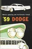 1959 Dodge Coronet - Custom Royal - D500 - Royal - Sierra Owner's Manual