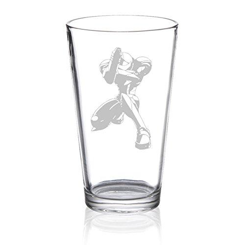 Metroid Prime – Samus – Etched Pint Glass
