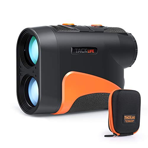 TACKLIFE Golf Rangefinder, Laser Range Finder 660 Yard/6X with Slope/Pin/Range/Scanning Model, Wrist Strap, Carrying Bag for Golf Training, Competition - MLR04 (Best Golf Rangefinder Under 100)