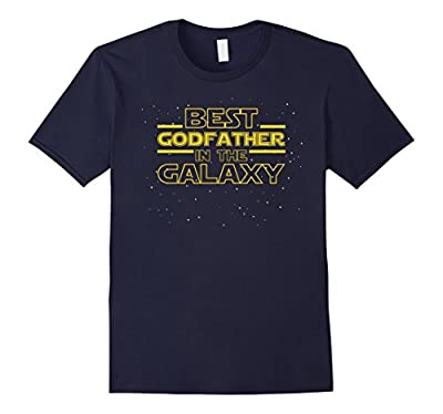 Mens Best Godfather in the Galaxy, Funny Godfather T-Shirt Gift