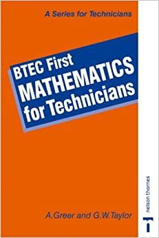 BTEC First - Mathematics for Technicians