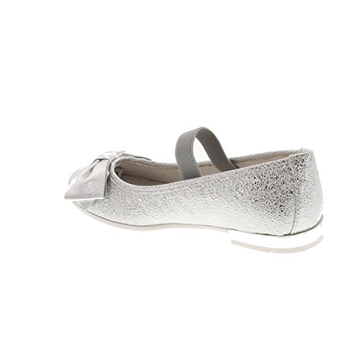 Dressy Stunning Girls Primigi Flats 14406 Silver Shoes TxSnAt4