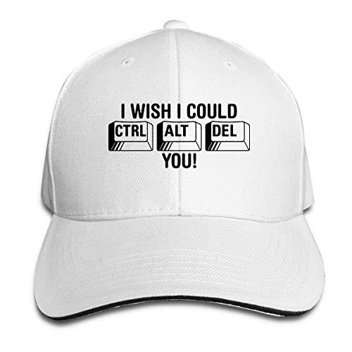 Orukitoki Baseball Caps I Wish I Could Control Cool Sandwich Cap Vintage Trucker Hats White