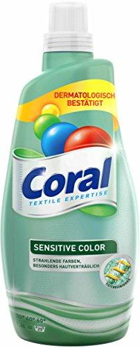 Coral Feinwaschmittel Sensitiv Color flüssig, 20 WL (1 x 1.4 l)