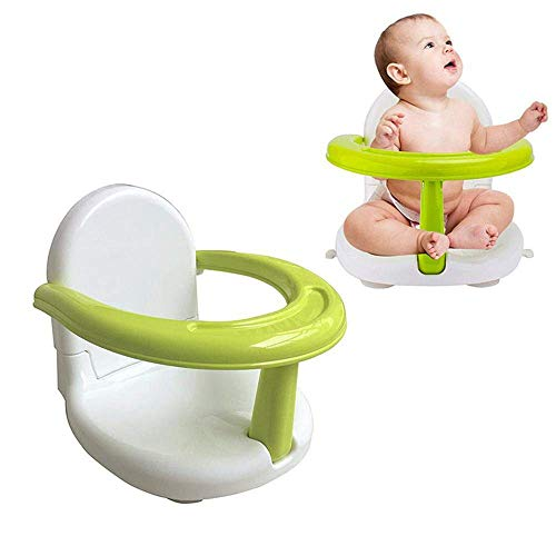 Hendont Foldable Baby Bath Seat Baby Bathtub Seat for Sit Up,Multi-Function Anti-SkidSafety Seat,with Backrest Support Infant Shower Safety Seat for Kids & Toddlers & Babies & Newborn