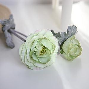 Sun·Light Artificial Silk Fake Flowers Daisy Lotus Wedding Bouquet Party Home Decor, Home Room Centerpiece Party Wedding Decor DIY Craft 73