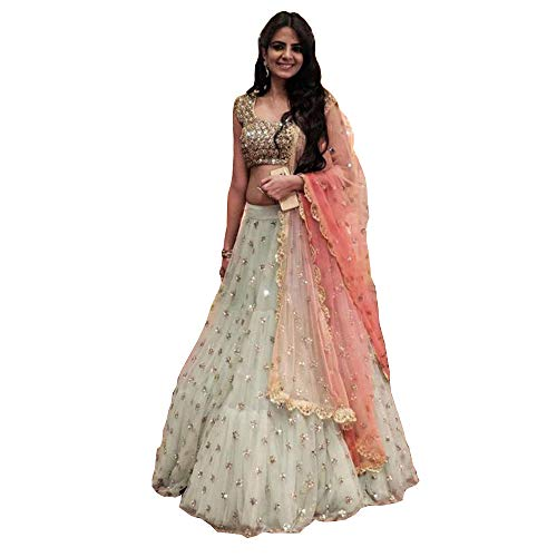 designer party wear lehenga choli Indian wedding bridal lengha sari trendy culture 0066