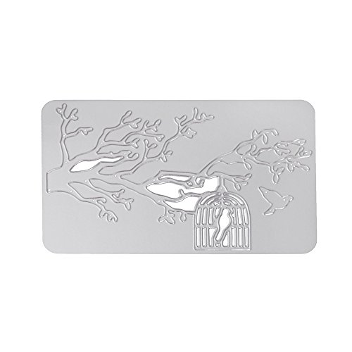 WOCACHI Christmas Cutting Dies Bird Card Making Stencils