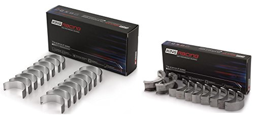 KING Performance/Race HP Rod+Main Bearings Set compatible with Chevy SB 305 327 350 383 (.010 rods/.010 mains)