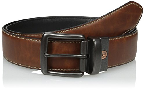 (Levi's Men's Reversible Casual Belt with Stitch Edge, Tan/black, Large)