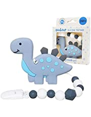 Baby Dinosaur Teething Toys – Dinosaur Baby Teether Toys with Teether Pacifier Clip – BPA-Free, Natural Organic Molar Teether – Best Baby Shower Gifts