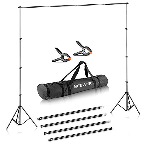 Neewer Photo Video Studio Adjustable Background Stand Backdrop Support System 10x12 feet/3x3.6 Meters and Carrying Bag for Photography (Backdrop Not Included)