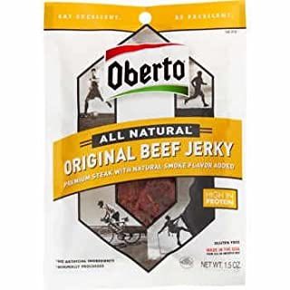 Oberto All Natural Beef Jerky, Original, 1.5 oz, 12 ct
