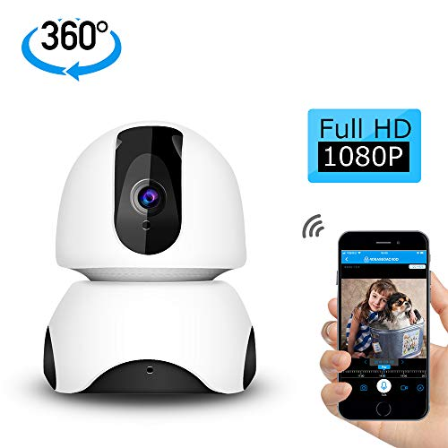 GEEKHOM Home Camera, 1080P Wireless Security Camera, WiFi Indoor  Surveillance IP System with Night Vision for Home/Office/Baby/Nanny/Elder
