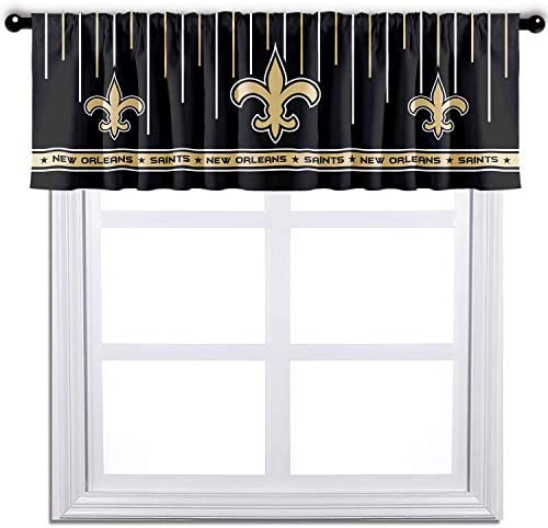 ZEWLLY Curtain Valance Blackout Short Window Treatment for Living Room, Kitchen, Bathroom 52 x 18