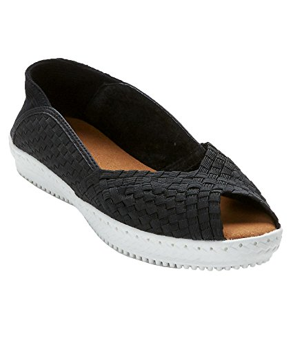 bernie mev. Brooke Woven Stretch Flats, 39, - Slip Features