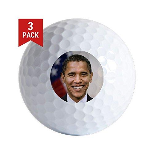 CafePress - US President Barack Obama - Golf Balls (3-Pack), Unique Printed Golf Balls ()