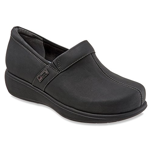 SoftWalk Women's Meredith Clog Black Oily Leather