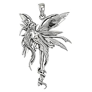 Amazon sterling silver air fairy pendant by amy brown jewelry image unavailable mozeypictures Images