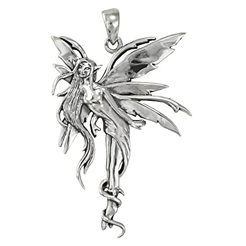Sterling Silver Air Fairy Pendant By Amy Brown