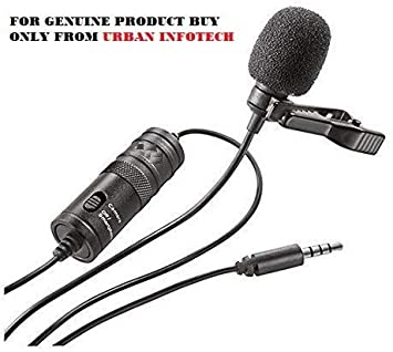 Boya by-M1 Lavalier Microphone Lapel Microphone Clip-on Omnidirectional Condense