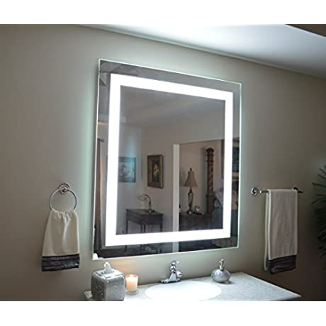 Wall Mounted Lighted Vanity Mirror LED MAM84448 Commercial Grade 44 Wide X48 Tall