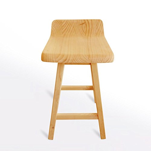 CMCL Vintage Stool High Stool All Solid Wood Bar Stool There are radians Screw with Dow Structure Solid Wood Pedal Mute Non-Slip mat Height 55cm / 65cm / 75cm Family ()