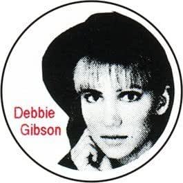 """Debbie Gibson - in Hat with Logo - 1 1/4"""" Button / Pin"""