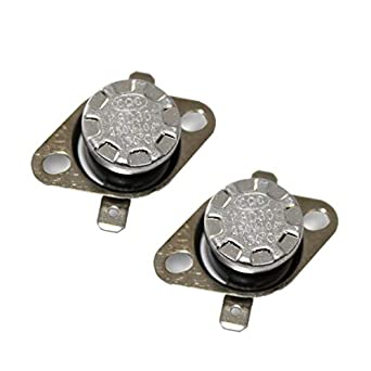 CompStudio 2 Pcs Temperature Controlled Switch Thermostat KSD301 130 Celsius Normal Close N.C 10A 250V