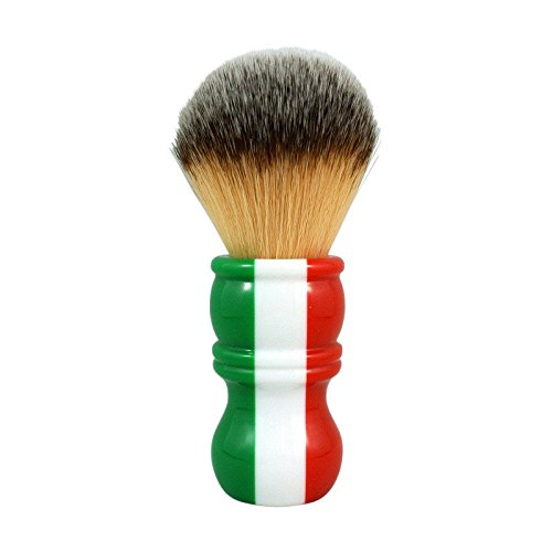 RazoRock Italian Barber Three Color Plissoft Synthetic Shaving Brush - 24mm by RazoRock
