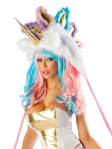 [J Valentine Women's Deluxe Unicorn Hood Multi-Color One Size Fits Most] (J Valentine Unicorn Costume)