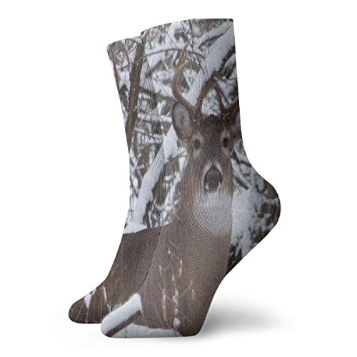 Crew Socks Whitetail Iowa Buck Deer Stylish Unisex Dress Stocking Accessory Sock Clearance for Teens -
