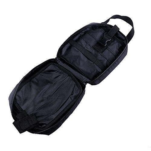 BlackRomance Tactical MOLLE Beutel - Kompaktes Mehrzweck-Tactical EDC Utility Gadget Medical Erste Hilfe Utility Pouch (schwarz)