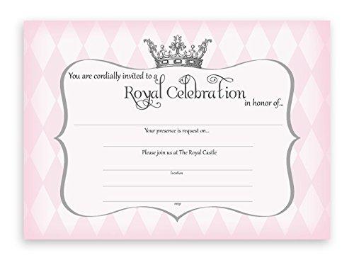 - POP parties Princess Party Large Invitations - 10 Invitations + 10 Envelopes