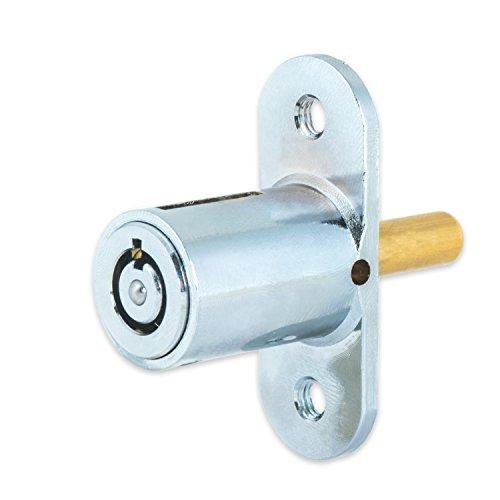 FJM Security 2612L-KA Push Lock with Chrome Finish, Keyed Alike Photo #5