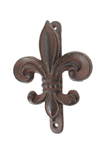 (Rustic Cast Iron Fleur De Lis Door Knocker)