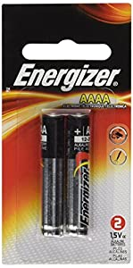 Energizer AAAA Alkaline Battery, 2-Pack