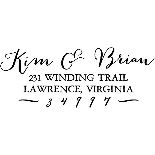 Kim & Brian Custom Return Address Stamp, Self-Inking Personalized Address Stamp (Custom Stamp Hand)