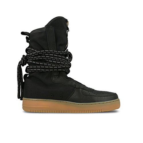 NIKE Mens SF Air Force 1 High Premium Boots Black/Gum Med Brown AA1128-001 Size - Premium In Francisco San Outlets
