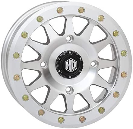 Bundle 9 Items STI HD A1 Beadlock 15 Wheel Machined 30 Desert Series Tires 4x156 Bolt Pattern 12mmx1.5 Lug Kit
