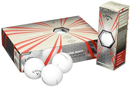 Callaway Chrome Soft X Golf Balls, Prior Generation, (One Dozen), White