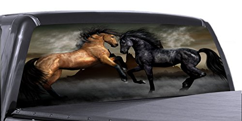VuScape HORSES 02 (LEE872) Rear Window Truck Graphics-decal SUV view thru vinyl