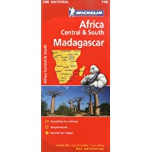 Michelin Africa Central South and Madagascar Map 746