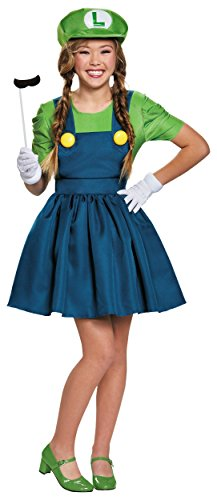 Mario And Luigi Female Costumes (Disguise Women's Luigi Skirt Version Adult Costume, Green/Blue, X-Large)