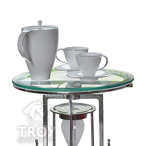 20'' Inch Round Glass Table Top, 1/2 Thick, Beveled Edge, Tempered Glass by TroySys (Image #1)