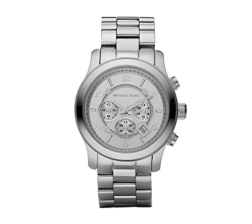 Michael Kors Men's Oversized Chronograph Watch – Silvertone