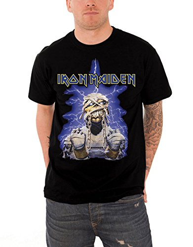 Iron Maiden T Shirt Powerslave Mummy Band Logo Official Mens Black Size - T-shirt Xxl Official
